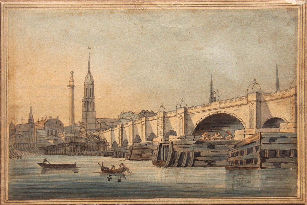 London Bridge Watercolour1799